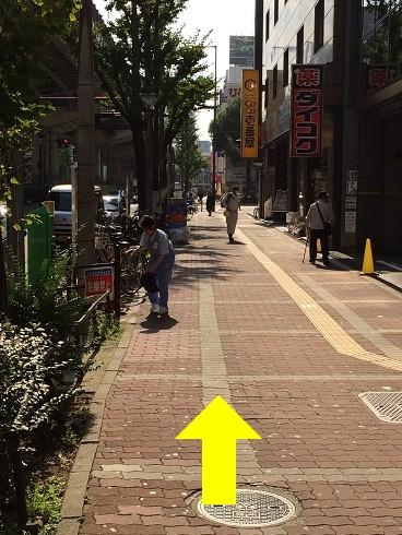 梅田の整体みどり推拿整体院までの道のり4